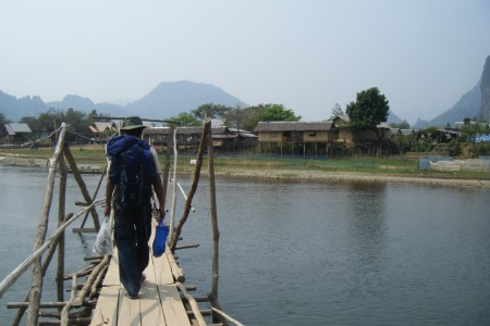 Crossing d bridge... to d Other Side Bungalows (more like shacks, but luved it)