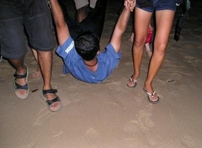 I being thrown into d sea in d middle of d nite
