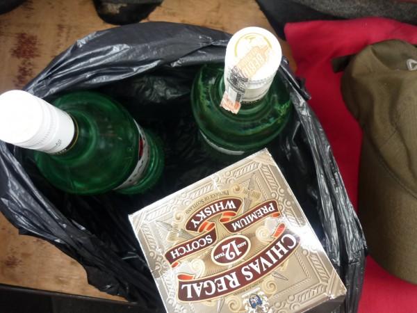 Booze stock from Brickfields 'laundrette'