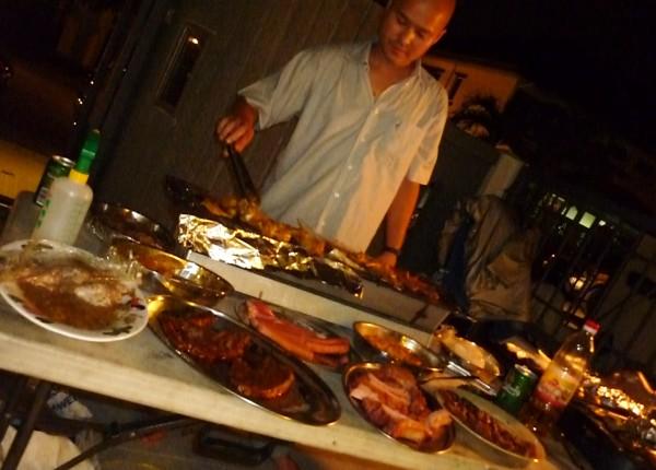 Major BBQ at Nigel's