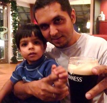 With my lil nephew Mo
