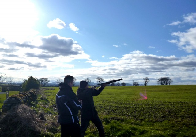 Indulged in shotguns n clay pigeons