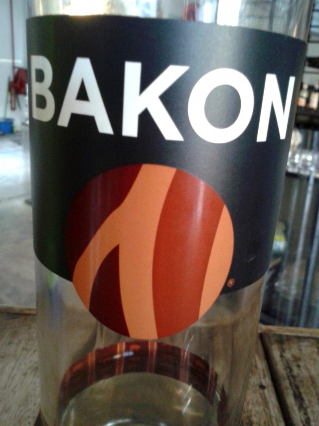 There's also Bakon Vodka; unfortunately no real bacon were killed to make this