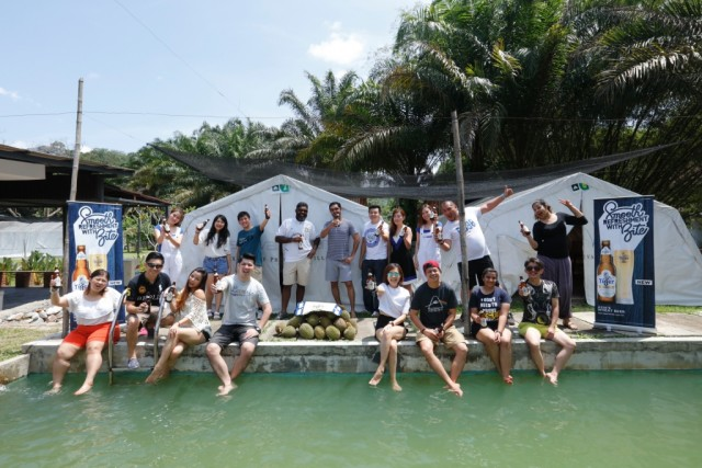 Day 2; Tiger White winners, their guests, and members of the media strike a pose before leaving Caravan Serai, Bentong