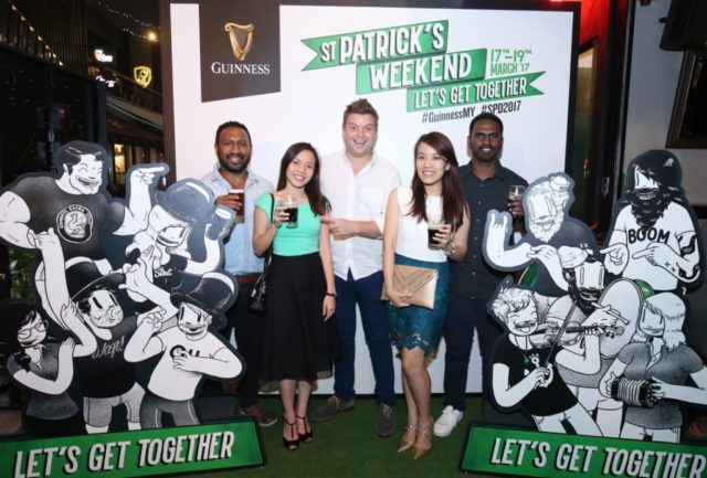 The Guinness team with their black juice